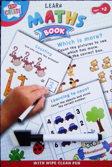 LEARN TO Educational Wipe Clean Book Maths & Numbers with Pen